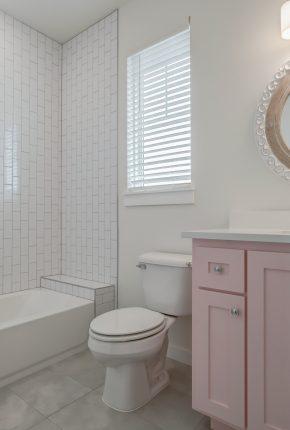 Custom bathroom example. Covenant Home Builders.