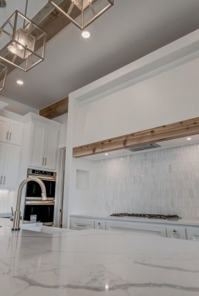 View of kitchen in one of our custom homes.