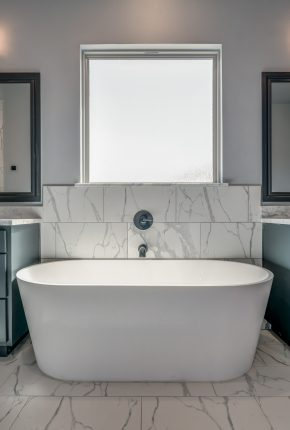 Master Bathroom Designed By Covenant Home Builders.