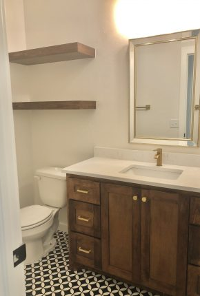 Bathroom Designed By Covenant Home Builders.