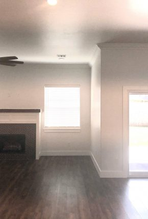 Living Space Designed & Built By Covenant Home Builders.
